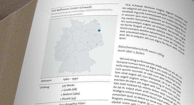 Entwurf Detail Sammlung, Katalogkonzept, Kunst in der DDR