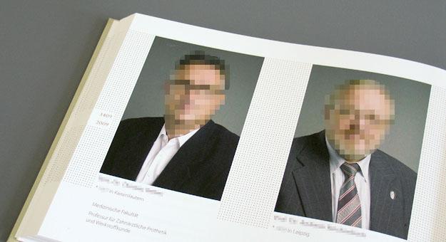 Porträtband 600 Jahre Uni Leipzig, Innen