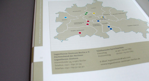 LZ-Berlin, 40-Jahre-Broschur, Standorte