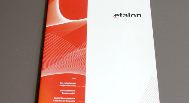etalon, Imagebroschur Titel