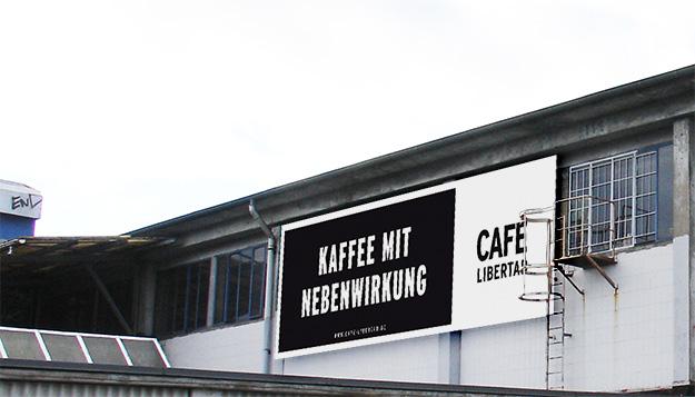 Café Libertad, Banner