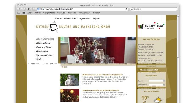 Websiteentwicklung (1. Entwurf)