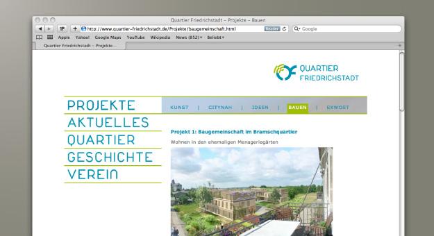 Quartier Friedrichstadt e. V., Inhalt