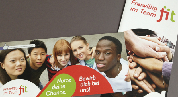 fit-Logo, Flyer und Folder