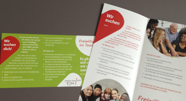 fit-Logo, Flyer und Folder innen